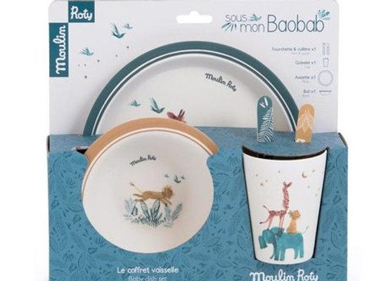 Set de vaisselle Sous mon baobab - Moulin Roty