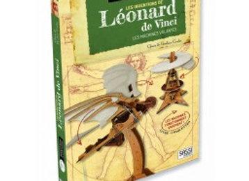 Livre Maquette Les machines volantes de Léonard de Vinci - Dès 8  Sassi Editions