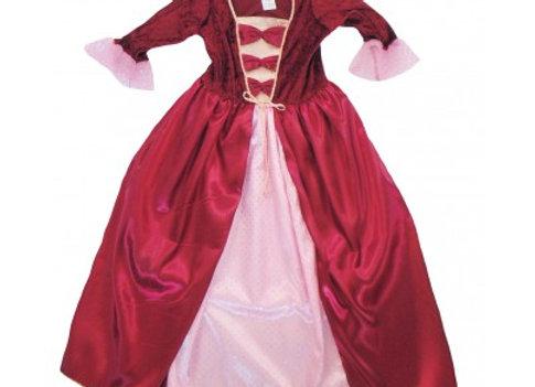 Robe royale bordeaux 5-6 ans