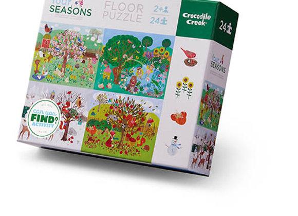 Puzzle 24 pièces Les 4 saisons Crocodile Creek