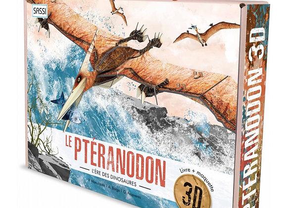 Livre et Maquette d'un Pteranodon 3D - Dès 7 ans - Sassi Edition