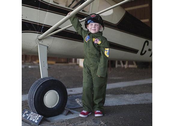 Combinaison Pilote Royal Air Force avec casque - 5-6 ans