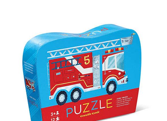 Puzzle 12 pièces Camion de pompier - Crocodile Creek