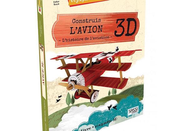 Livre Maquette Avion 3D - Dès 6 ans - Sassi Editions