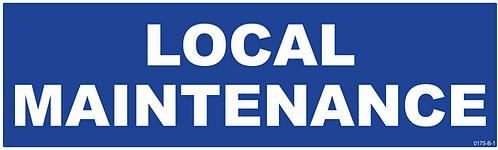 LOCAL MAINTENANCE