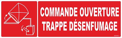 COMMANDE TRAPPE DESENFUMAGE