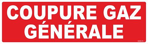 COUPURE GENERAL GAZ
