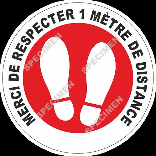 RESPECTER 1m DE DISTANCE