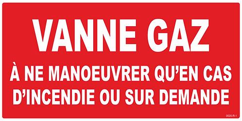 VANNE GAZ EN CAS D'INCENDIE