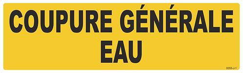 COUPURE GENERALE EAU