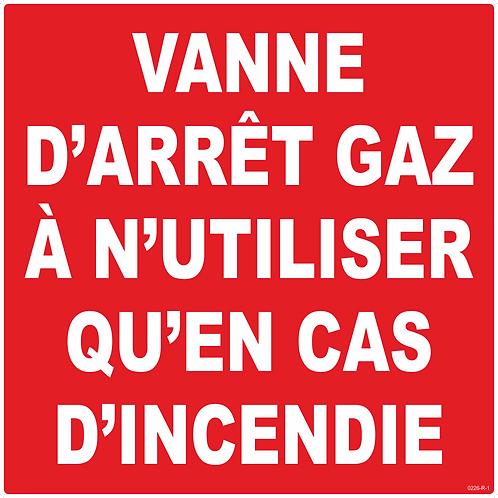 VANNE ARRET GAZ EN CAS D'INCENDIE