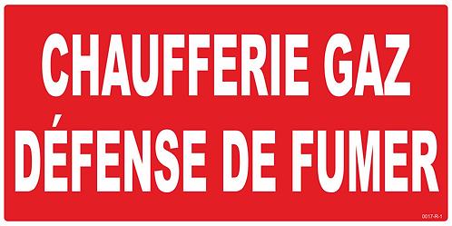 CHAUFFERIE GAZ DEFENSE DE FUMER
