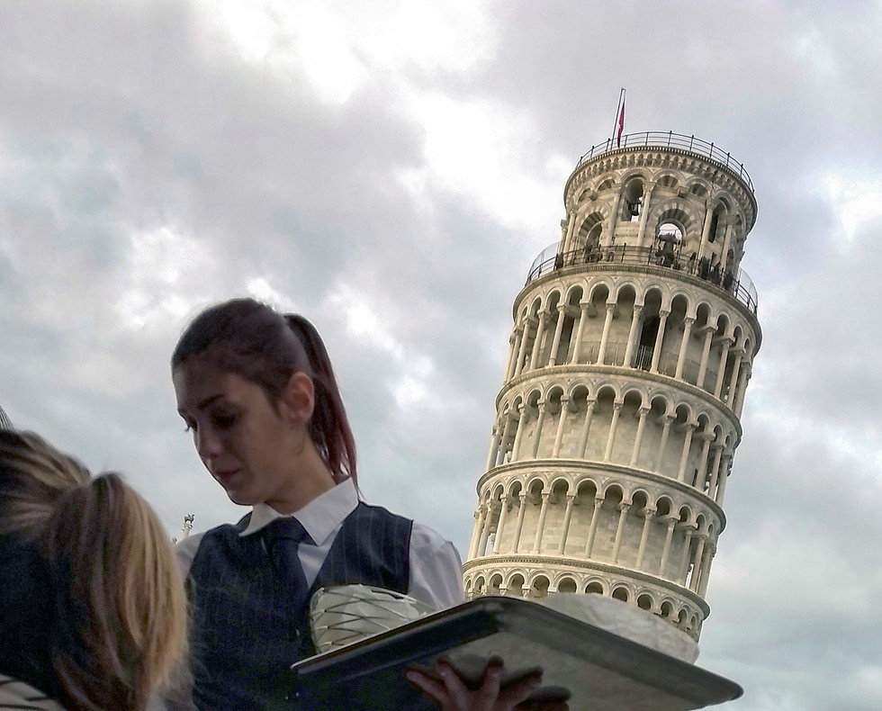 Pisa Tower Cake