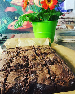 Tomorrow's treats cooked! Gooey Vegan pe
