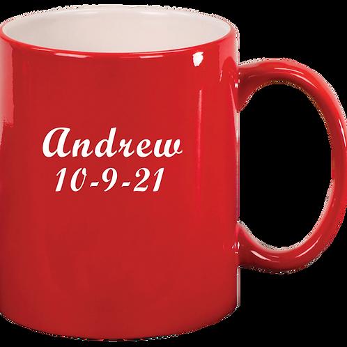 Red Engravable Mug