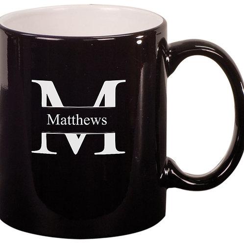 Black Engravable Mug