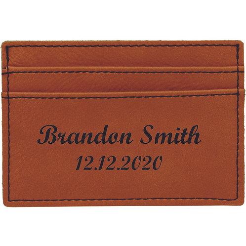 Brown Leatherette Slim Wallet