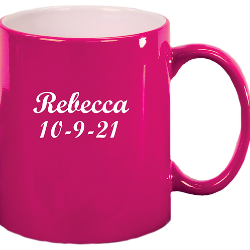 Pink Engravable Mug