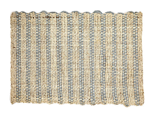 Placemat sisal rustic light blue