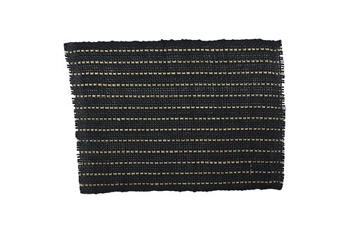 Placemat sisal black natural line