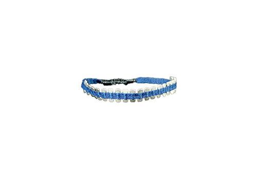 * Pulsera plata azul2