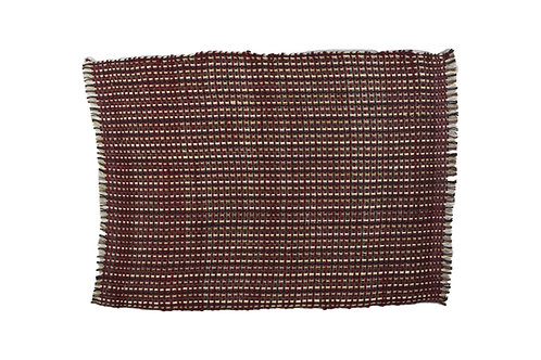 * Placemat sisal bordeau