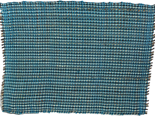 Placemat sisal turquoise