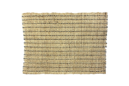 * Placemat sisal natural black line