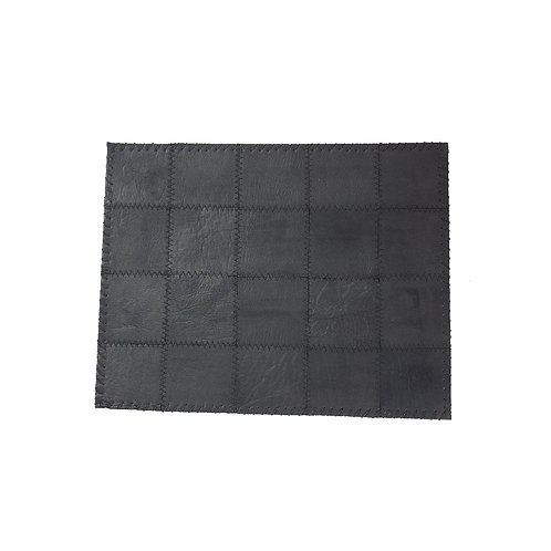 placemat leather black