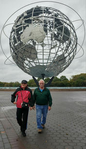 Henry's parents at the NY World's Fair Unisphere