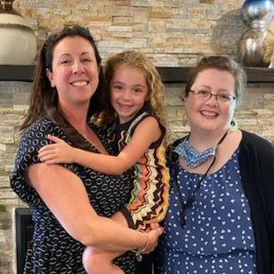 Amy, sister in law Brenda & niece Riley