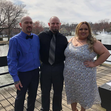 Officiating Chris & Ally's wedding