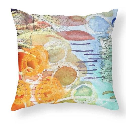 Abstract Watercolor Design Throw Pillow