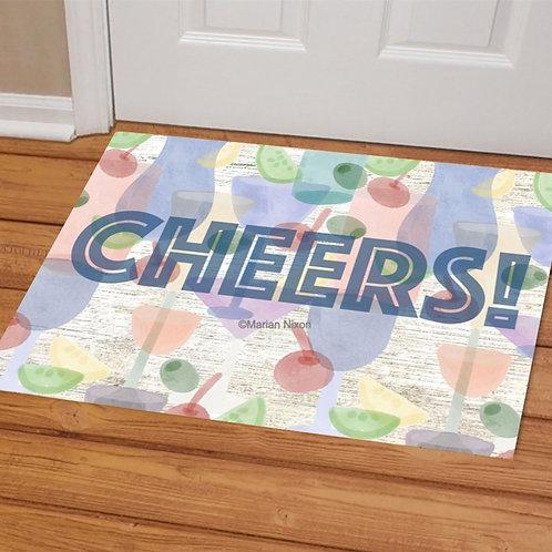 Cheers! Welcome Mat, Doormat, Porch Decor