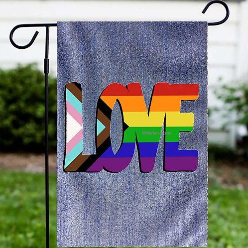 LOVE LGBTQ Garden or House Flag, Door Sign