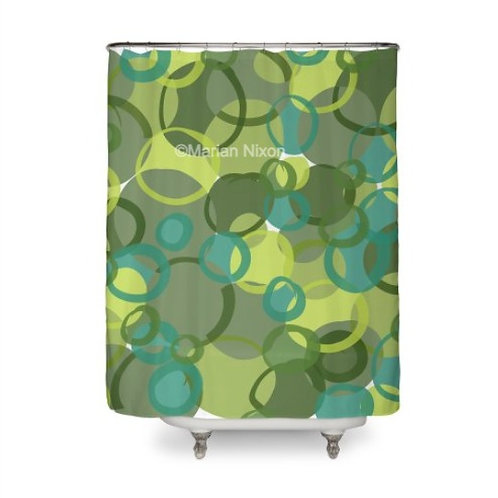 Green Camo Art Shower Curtain