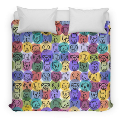 Colorful Doggies Bedding/Duvet Cover