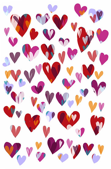 Heart Decals, Love Wall Stickers,Valentine's Day Decor