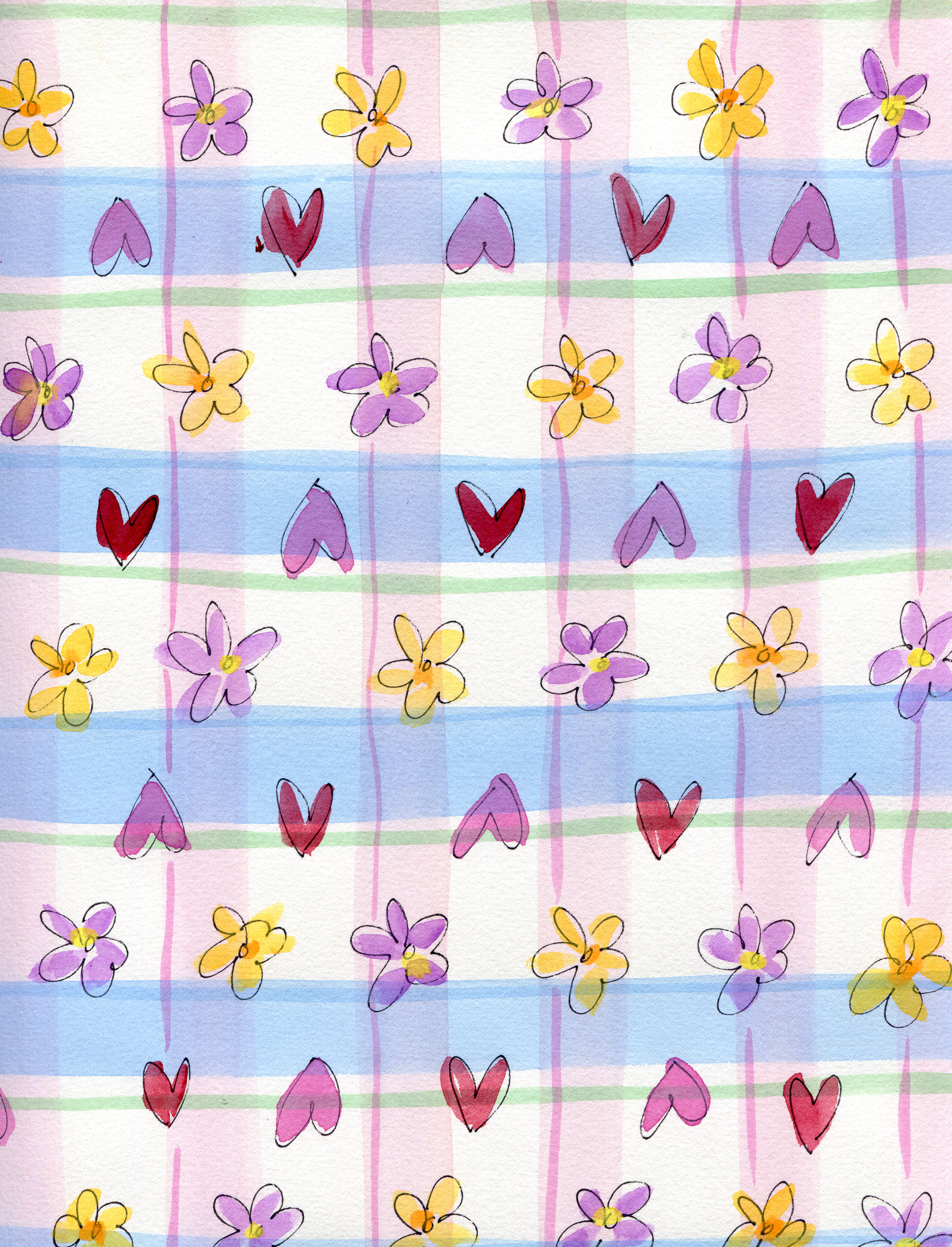 04a08 hearts flowers