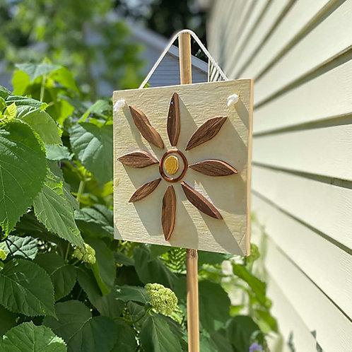 Wood Flower Sign, Indoor Outdoor Wall Decor