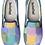 Thumbnail: Watercolor Squares Design Slip on Sneakers