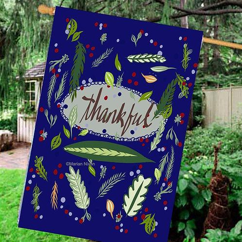 Thankful Garden/House Flag, Thanksgiving Door Sign, Host/Hostess Gift