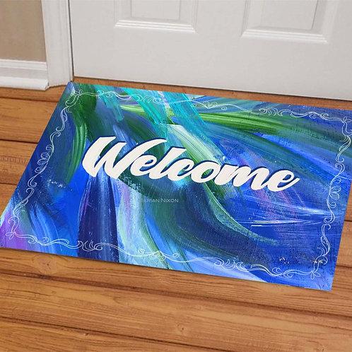 Abstract Design Doormat, Welcome Mat, Porch Decor
