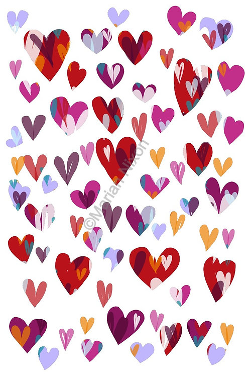 Hearts Wall Decals, Love Stickers, DIY Valentine's Cards