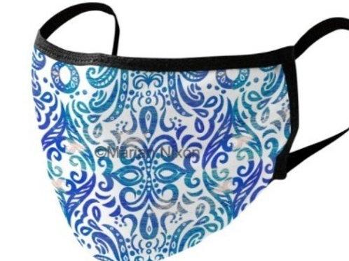 Blue Swirl Design Face Mask/Neck Gaiter