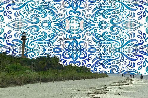 Sanibel Island Lighthouse Art Print, Coastal Wall Decor