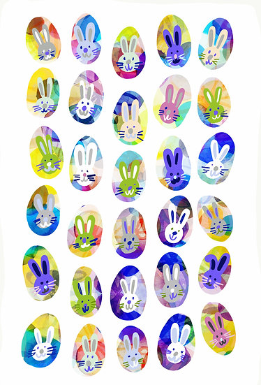 Easter Decorations Bunny Wall Stickers