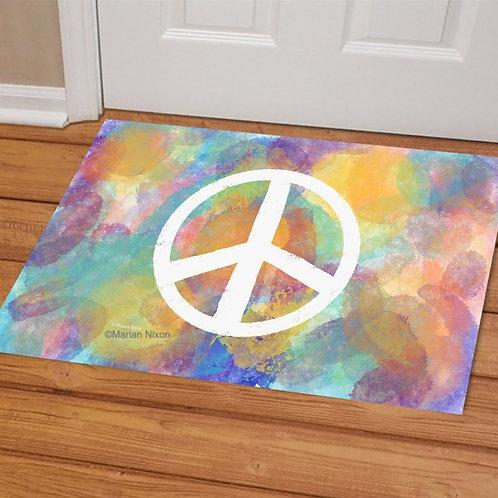 Peace Welcome Mat, Doormat, Porch Decor