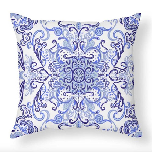 Delft Inspired Throw Pillow
