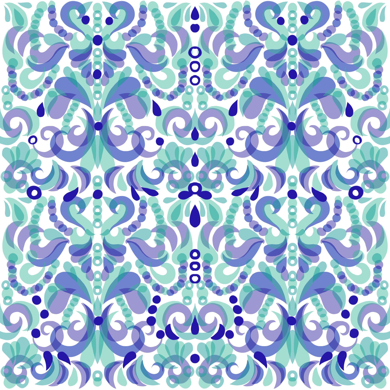 19D08 Orig Swirls Tile LO